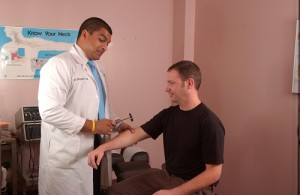 Are you hurt from weight lifting regimen treating by chiropractor