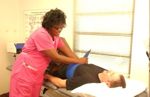 Chiropractor treating patient been injured